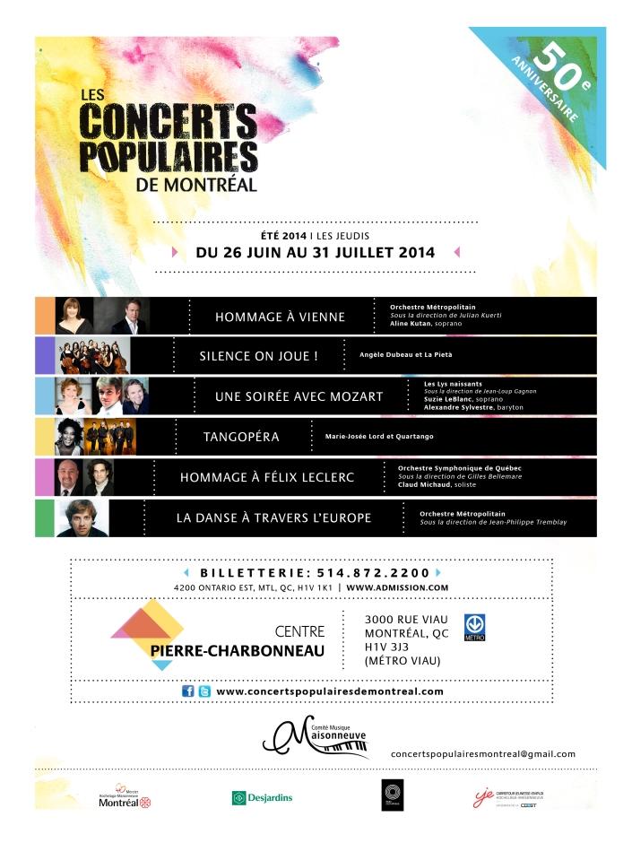 Affiche concerts populaires